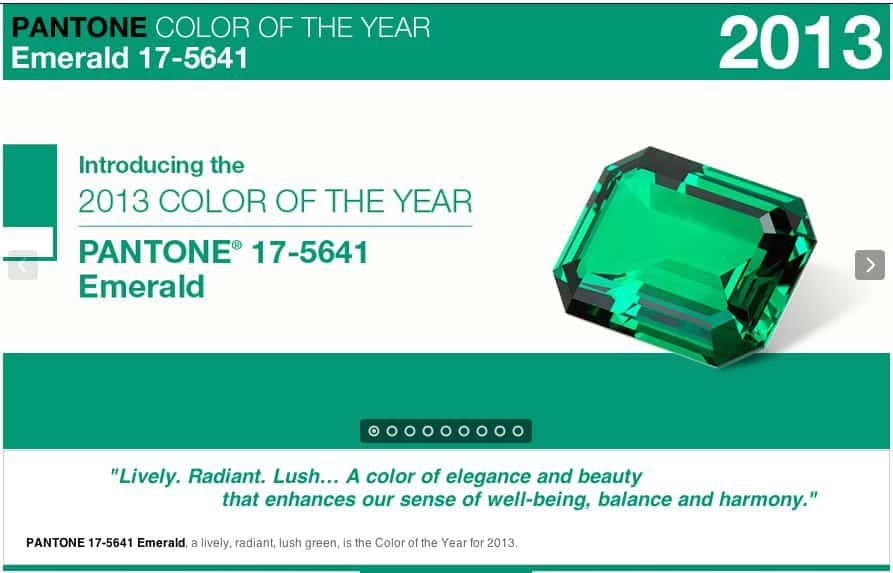 2013 Color of the Year – Emerald