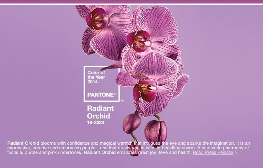2014 – Pantone Color of the Year: Radiant Orchid