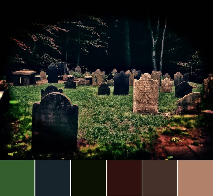 Cemetery Glow – Color Palette
