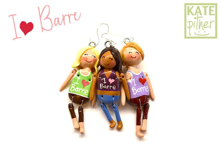 "NEW ""I Love Barre"" Ornaments at my Happy Shoppe on Etsy!"