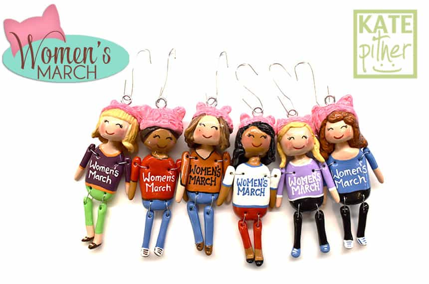 "NEW ""Women's March"" Ornaments at my Happy Shoppe on Etsy"